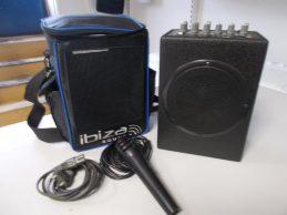Ibiza Sound PORT6 hordozható hangszóró + mikrofon, főkép
