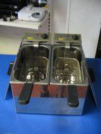 Roller Grill RF-5 DS  Olajsütő, fritőz 2 X 5 literes, vendéglátó, büfé, éttermi felhasználásra., főkép